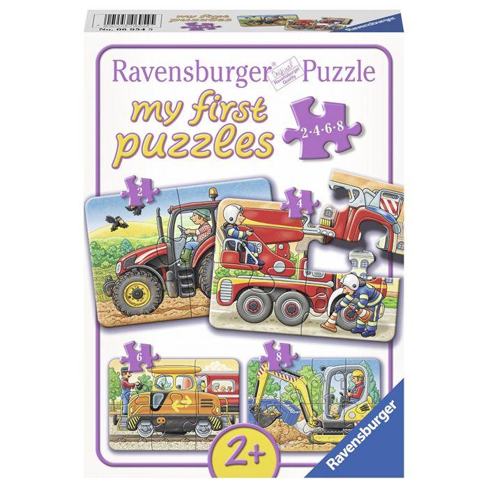 puzzle ravensburger pentru copii cu utilaje agricole ferma