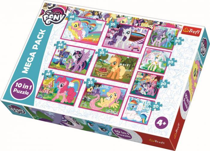 Puzzle 10 in 1 Lumea minunata a poneilor Trefl, 329 piese, 4 ani+