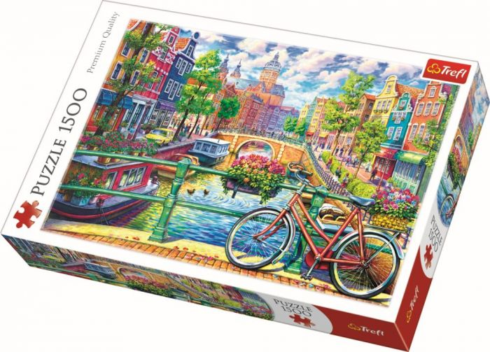 Puzzle Amsterdam Trefl, 1500 piese, 15 ani+