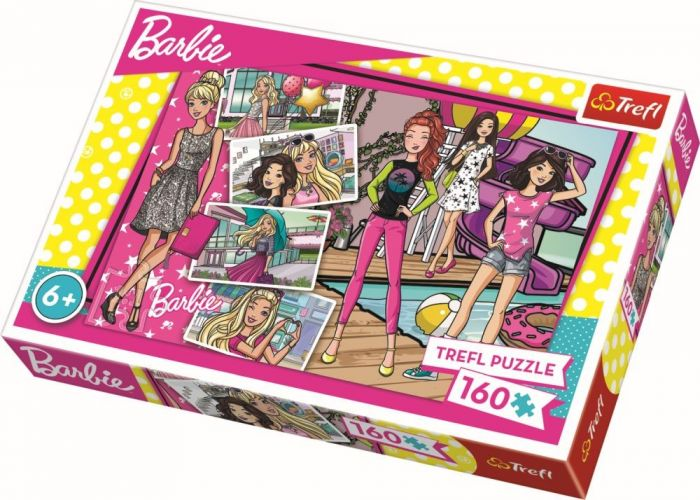 Puzzle Barbie mereu la moda Trefl, 160 piese, 6 ani+