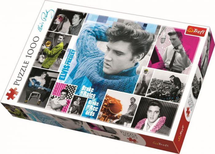 Puzzle Elvis Presley intotdeauna tanar Trefl, 1000, 14 ani+