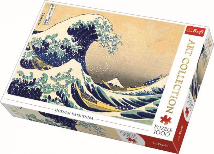 Puzzle Marele val de la Kanagawa Trefl, 1000 piese, 14 ani+