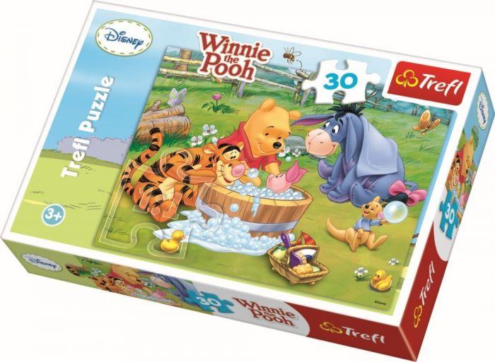 Puzzle Piglet face o baita Trefl, 30 piese, 3 ani+