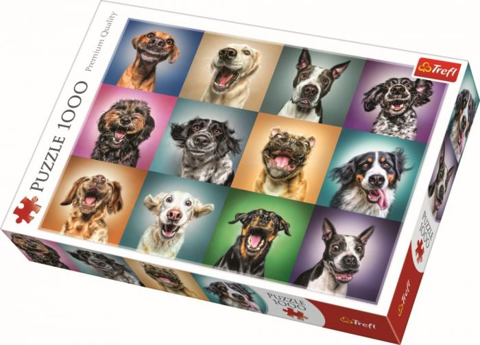 Puzzle Portret catelusi simpatici Trefl, 1000 piese, 14 ani+