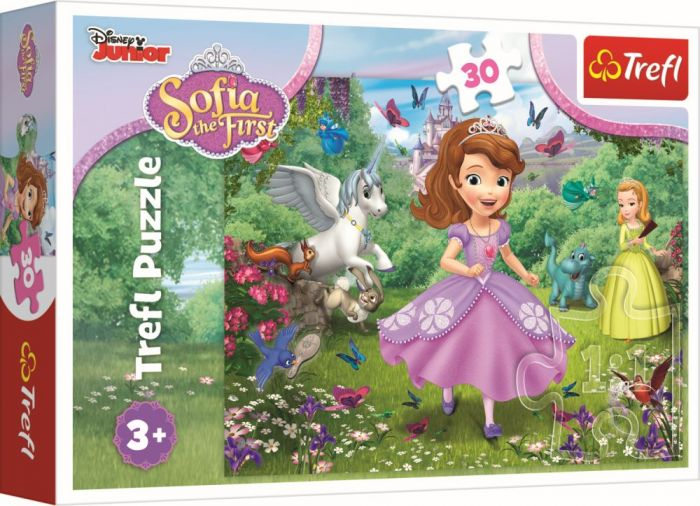 Puzzle Printesa Sofia in gradina Trefl, 30 piese, 3 ani+