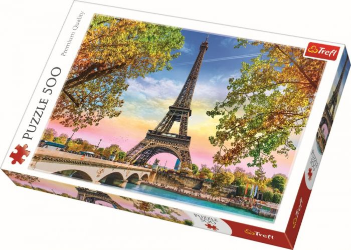 Puzzle Romanticul Paris Trefl, 500 piese, 14 ani+