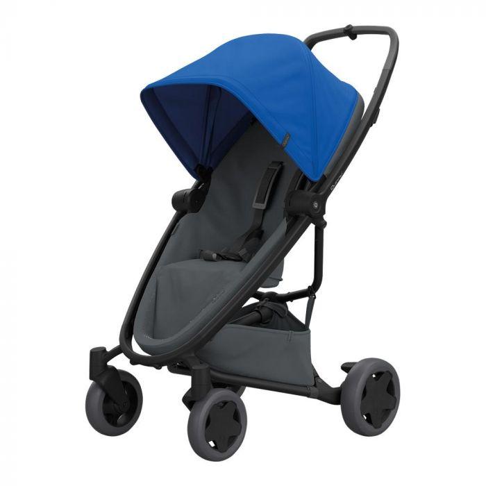 Carucior Zapp Flex Plus Quinny Blue on graphite, 6 luni+, Multicolor