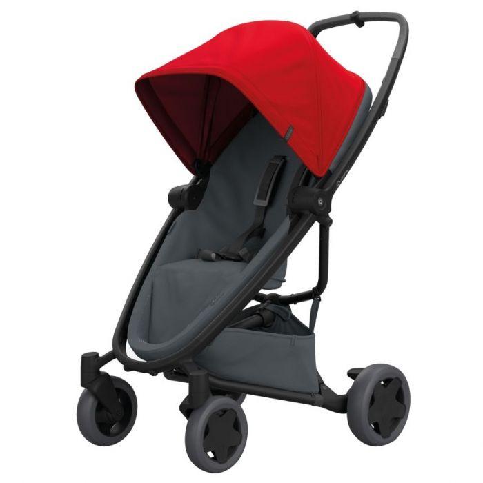 Carucior Zapp Flex Plus Quinny Red on graphite, 6 luni+, Multicolor