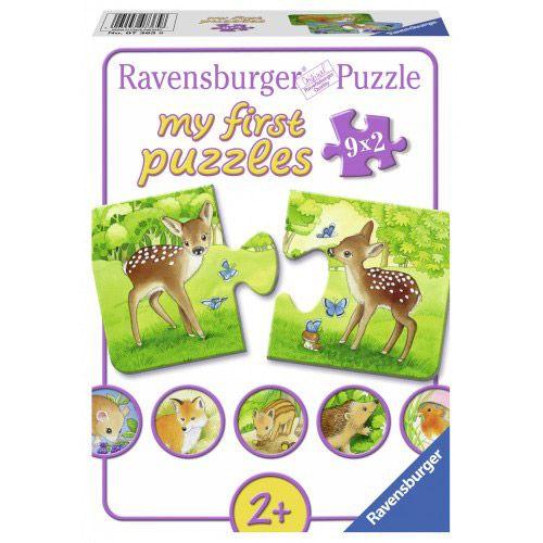 Primul meu puzzle cu animalute 9 x 2 piese Ravensburger