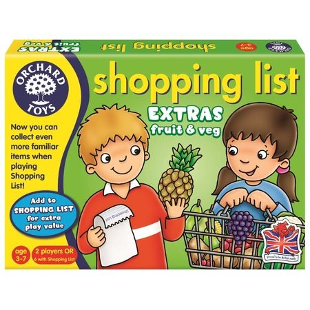 Joc educativ Shopping List Fruit & Veg Orchard, in limba engleza, 36 luni+