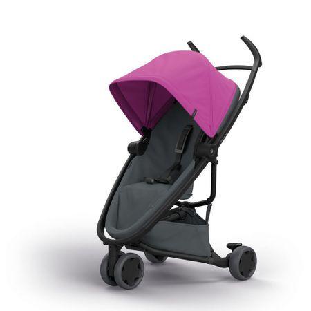 Carucior Zapp Flex Quinny Pink on graphite, 6 luni+, Multicolor