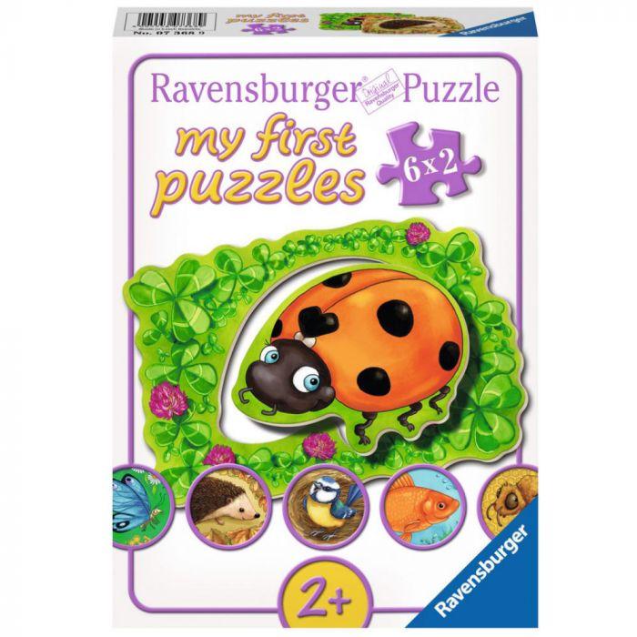 Primul meu puzzle viata animalelor 6 x 2 piese Ravensburger