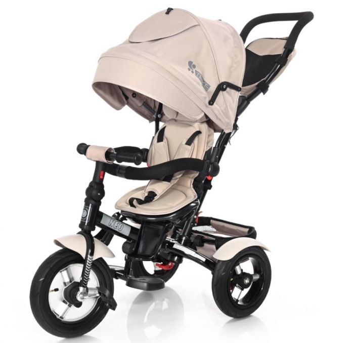 Tricicleta Neo Air Wheels Lorelli Ivory, 12 luni+, Bej