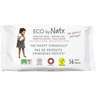 Servetele umede Sensitive ECO by Naty, fara parfum, 56 buc