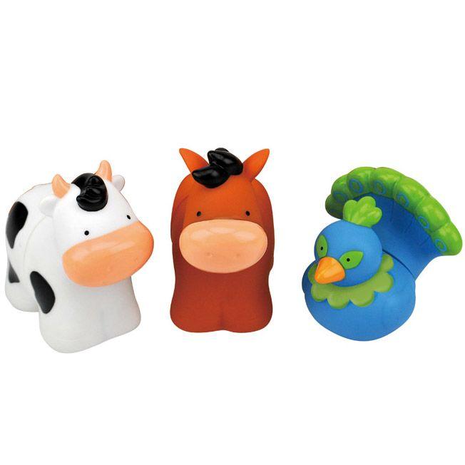 set animale ferma plastic moale constructie forme