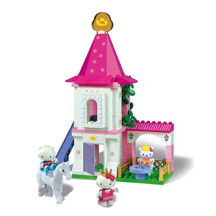 Set constructie Hello Kitty Castel 80 piese Unico Plus