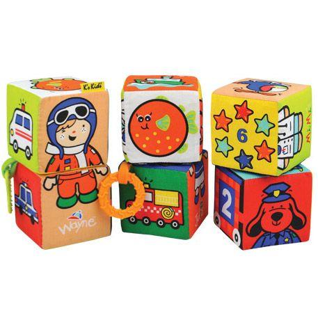 cuburi puzzle forme dentitie textil cauciuc multicolor fetite baietei