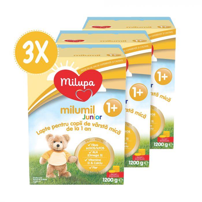 Pachet 3 x MIlupa Junior 1+ 1200 g
