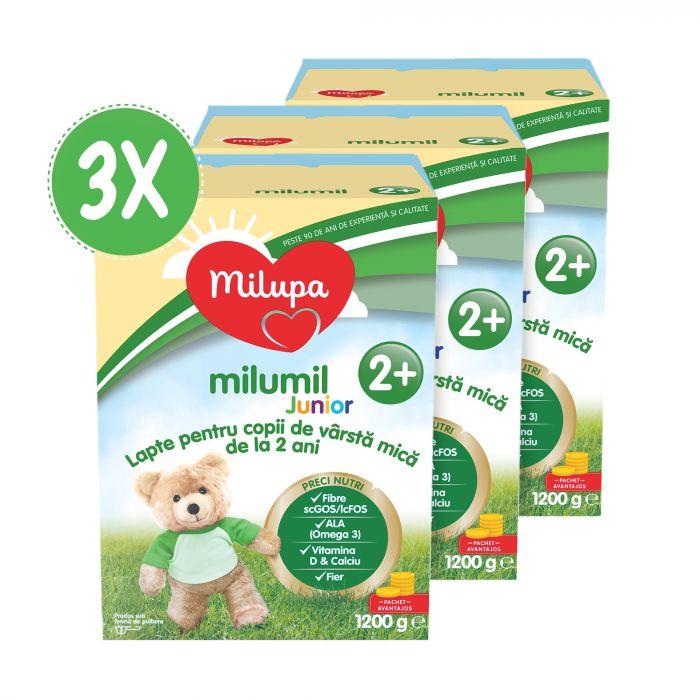 Pachet 3 x Milupa Milumil Junior 2+ 1200 g