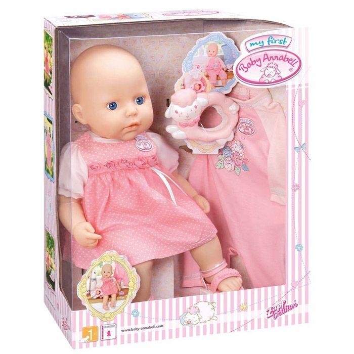 Papusa primul meu bebelus cu hainute roz Annabell Zapf