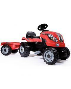 Tractor XL Rosu cu remorca Smoby