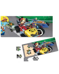 Puzzle Mickey si pilotii de curse 21 piese Mickey Mouse