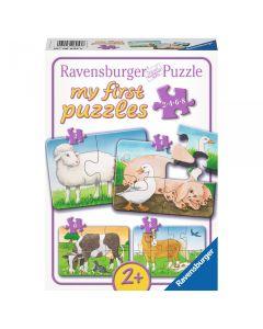 Puzzle Animale de la ferma 2/4/6/8 piese Ravensburger