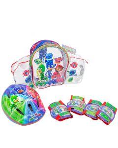 Set casca + protectii PJ Masks Saica