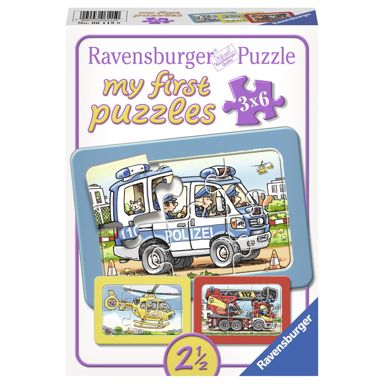 Puzzle Politie 3 x 6 p...