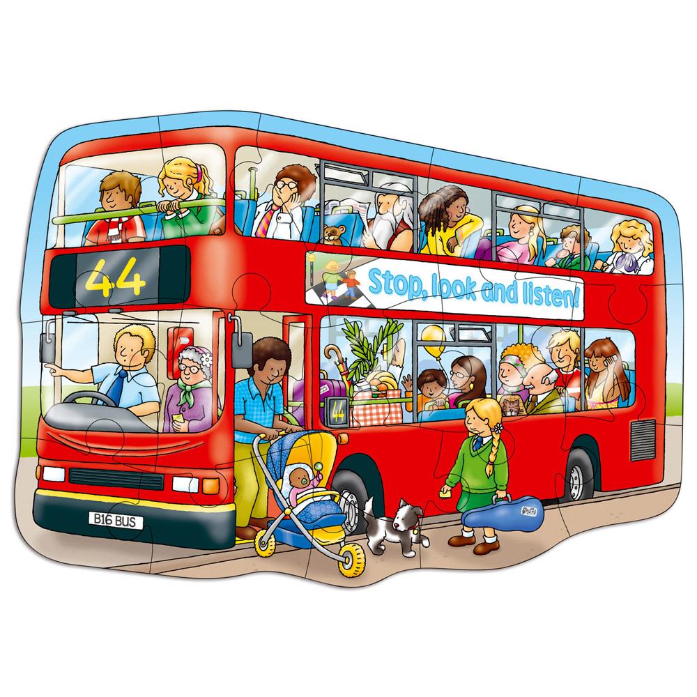 Puzzle Big Bus 15 pies...