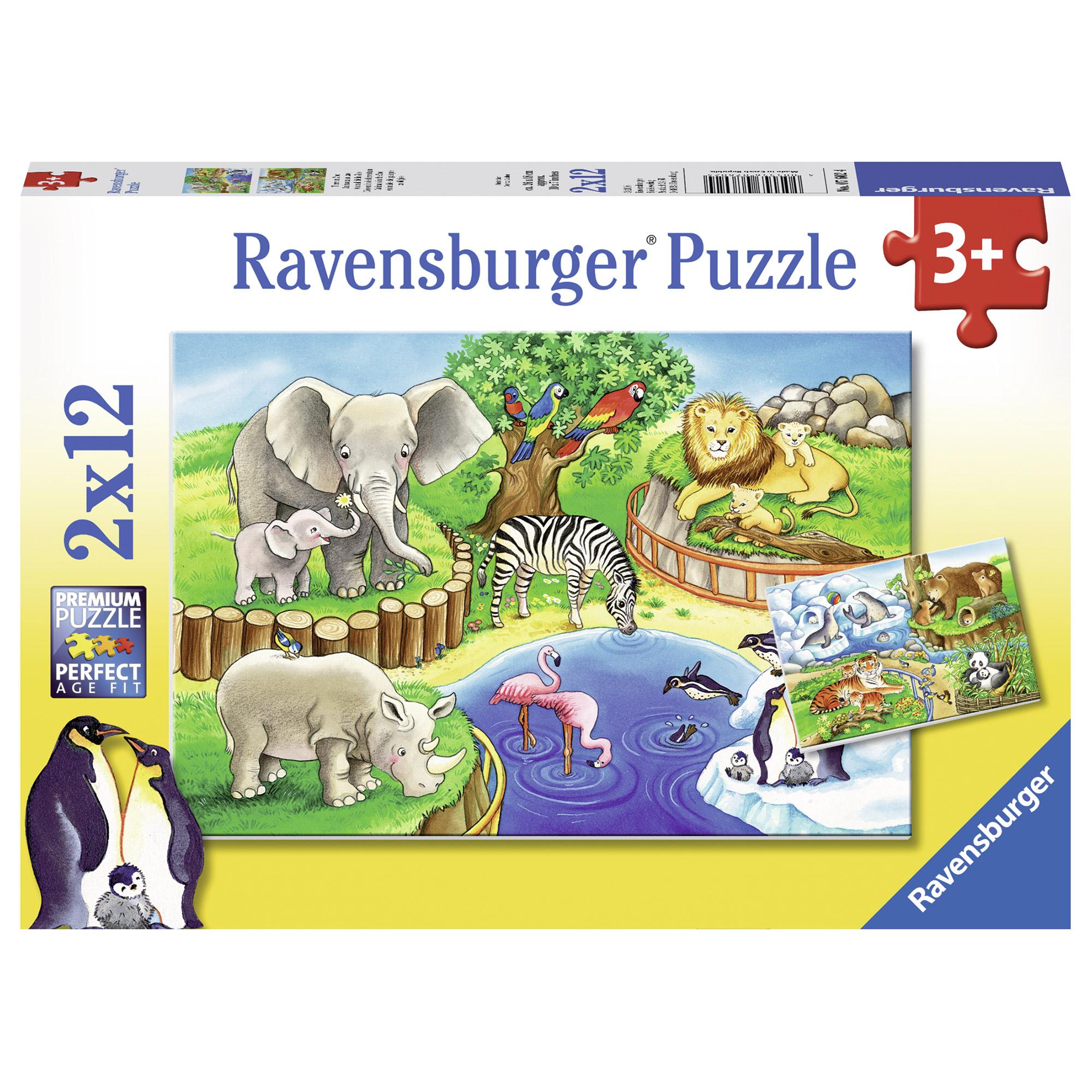 Puzzle Zoo 2 x 12 pies...